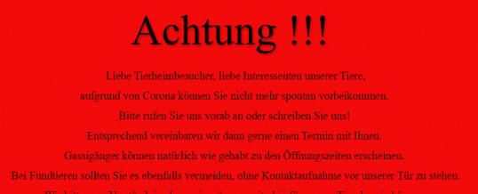 Achtung – Coronaregeln !!!